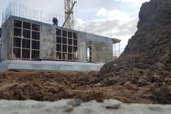 Дом на Аминьевском шоссе - Строительство первого этажа