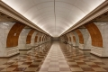 Станция метро Парк Победы - белый зал