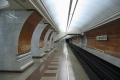 Станция метро Парк Победы - посадочная платформа белого зала