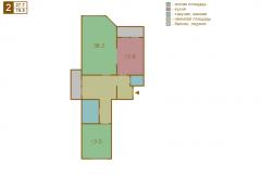 2-комнатная квартира вариант A серии МПСМ