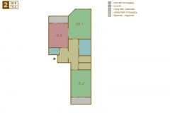 2-комнатная квартира вариант B серии МПСМ