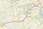 Схема южного дублёра Кутузовского проспекта