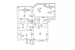 Поэтажный план: Нежинская ул. 9, 4-комн. квартира