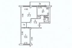 Поэтажный план распашной двухкомнатной квартиры дом серии I-МГ-601