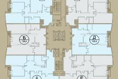 Планировки квартир ЖК Кутузовская ривьера 01