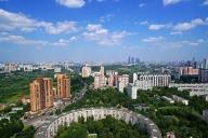 Круглый дом на Нежинской - Вид в сторону Москва-Сити