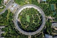 Круглый дом на Нежинской - Вид сверху