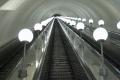 Станция метро Парк Победы - Наклонный эскалаторный ход