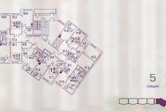 Планировки квартир ЖК О7 5 секция