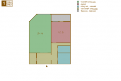 1-комнатная квартира вариант A серии МПСМ