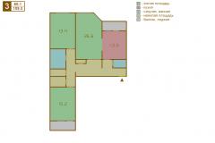 3-комнатная квартира вариант A серии МПСМ