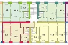 Планировка дома серии 1-447