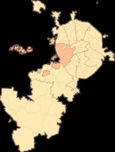 Западный административный округ на карте Москвы